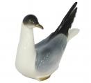 Seagull Black-headed Bird Lomonosov Imperial Porcelain Figurine
