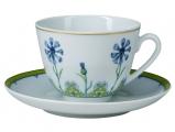 Lomonosov Imperial Porcelain Tea Cup Set Spring Blue Cornflower 7.8 oz/230ml