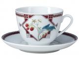 Lomonosov Imperial Porcelain Tea Cup Set Spring Sweet Raspberry 7.8 oz/230ml