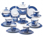 Lomonosov Imperial Porcelain Tea Set Bridges of St. Petersburg 6/20