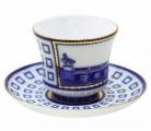 Lomonosov Imperial Porcelain Tea Set Cup and Saucer Anichkov Bridge 7.4 oz/220 ml