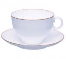 Lomonosov Imperial Porcelain Tea Set Cup and Saucer AppleTea Golden Edge 5.4 fl. oz/160 ml