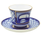 Lomonosov Imperial Porcelain Tea Set Cup and Saucer Hermitage Bridge 7.4 oz/220ml
