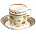 Lomonosov Imperial Porcelain Tea Set Cup and Saucer Jade #1 7.4 oz/220 ml