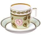 Lomonosov Imperial Porcelain Tea Set Cup and Saucer Jade #2 7.4 oz/220 ml