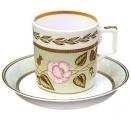Lomonosov Imperial Porcelain Tea Set Cup and Saucer Jade #2 7.4 oz/220 ml