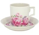 Lomonosov Imperial Porcelain Tea Set Cup and Saucer Romantic Date 7.4 oz/220 ml