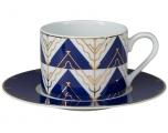 Lomonosov Imperial Porcelain Tea Set Cup and Saucer Solo Kalevala 10.1oz/300 ml