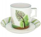 Lomonosov Imperial Porcelain Tea Set Cup and Saucer Spring 7.4 oz/220 ml
