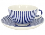 Lomonosov Imperial Porcelain Tea Set Cup and Saucer Tulip Frenchman 8.45 oz/250 ml