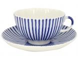 Lomonosov Imperial Porcelain Tea Set Cup and Saucer Tulip Frenchman 8.45 oz/250 ml