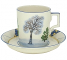 Lomonosov Imperial Porcelain Tea Set Cup and Saucer Winter 7.4 oz/220 ml