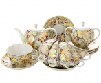 Lomonosov Imperial Porcelain Tea Set Tulip Golden Daisy 6/14