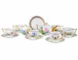 Lomonosov Imperial Porcelain Tea Set Wildflowers 6/20