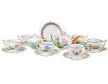 Lomonosov Imperial Porcelain Tea Set Wildflowers 6/20