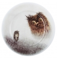 "Decorative Wall Plate Hedgehog in the Fog 10.6""/270 mm Lomonosov Imperial Porcelain"
