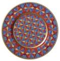 "Decorative Wall Plate 10.4""/265 mm Mazarin Gothic 1 Lomonosov Imperial Porcelain"