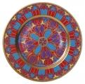 "Decorative Wall Plate Mazarin Gothic #12 10.4""/265 mm Lomonosov Imperial Porcelain"