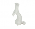 Russian Porcelain Porcelain Figurine Standing White Weasel