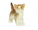 Kitten Cat Striped Red Lomonosov Imperial Porcelain Figurine