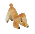 Poodle Apricot Colored Playing Dog Lomonosov Porcelain Figurine