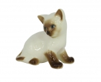 Kitten Cat Siamese Lomonosov Imperial Porcelain Figurine