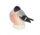 Winter Bullfinch Big Lomonosov Imperial Porcelain Figurine
