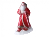 Lomonosov Porcelain Christmas New Year Figurine Red Father Frost Santa Claus