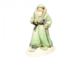 Lomonosov Porcelain Christmas New Year Figurine Green Father Frost Santa Claus