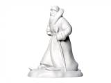 Lomonosov Porcelain Christmas New Year Figurine White Father Frost Santa Claus