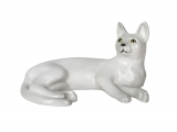 Snow White Domestic Cat Lomonosov Porcelain Figurine