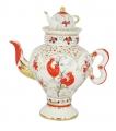 Lomonosov Imperial Porcelain Tea Pot Folk Motifs 16.23 oz/480 ml