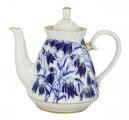 Lomonosov Imperial Porcelain Teapot Blue Bells