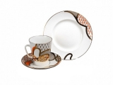 Lomonosov Bone China Cup and Saucer May Sun 5.6 fl.oz/165 ml 3 pc