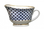 Lomonosov Lomonosov Porcelain Cobalt Net Large Gravy Boat 6.76 fl.oz/200 ml