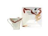 Lomonosov Bone China Cup and Saucer Oriental Dance 8.45 oz/250 ml
