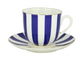 Lomonosov Porcelain Yes and No COBALT Bone China Espresso Coffee Cup and Saucer 6 oz/180 ml
