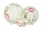 Lomonosov Imperial Porcelain Tea Set Tulip Pink Tulips 8.45 oz/250 ml