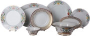 Lomonosov Porcelain Dinner Set Moscow River 23 pieces