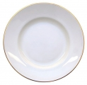 "Imperial Porcelain Porcelain Cake Dessert Plate Golden Ribbon 6""/155 mm"