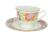 Bone China Tea Set Orange Marietal 8.12 fl.oz/240 ml 2pc
