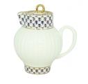 Lomonosov Imperial Porcelain Bone China Creamer Wave Cobalt Net 9 fl.oz /270 ml