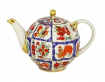 Lomonosov Imperial Porcelain Porcelain Teapot Russian lubok 20 oz/600 ml