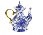 Lomonosov Imperial Porcelain Singing Garden 7-Cup Teapot 37.2 oz/1100 ml
