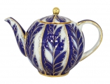 Lomonosov Imperial Porcelain Tea Pot Tulip Winter Night 3 Cups 20 oz/600 ml