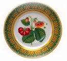 "Decorative Wall Plate Strawberries 10.4""/265 mm Lomonosov Porcelain"