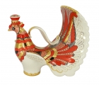 Lomonosov Imperial Porcelain Wine Decanter Red Firebird 27 fl.oz/800 ml