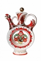 Lomonosov Imperial Porcelain Whiskey/Vodka Decanter Scarlet Flower 18.6 fl.oz/550 ml