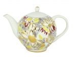Lomonosov Imperial Porcelain Tea Pot Tulip Golden Daisy 20 oz/600 ml