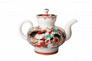 Lomonosov Imperial Porcelain Teapot Malysh Roosters 1 cup 8.5 oz/250 ml
